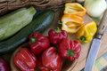 Free Fresh, Colorful Vegetables On The Rustic Board Stock Photography - 5954742