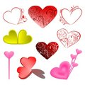 Free Set Vector Love Illustration Stock Photography - 5956032
