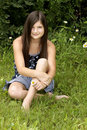 Free Beautiful Brunette Girl In The Park Stock Photos - 5957593