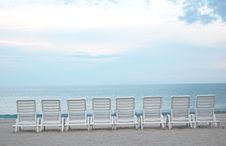 Free Beach Chairs Royalty Free Stock Photography - 5950267