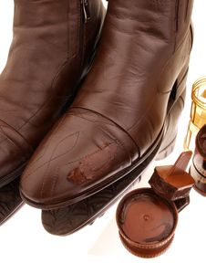 Free Brown Boots Polished Stock Photos - 5951533