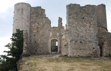 Ruined Castle In France Stock Images