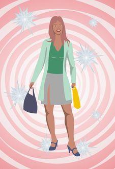 Free Shopping Women Royalty Free Stock Photography - 5951897