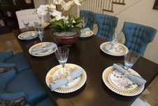 Free Luxury Home Dining Table. Royalty Free Stock Photos - 5952208