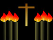 Free Candles And Cross Stock Photography - 5952362