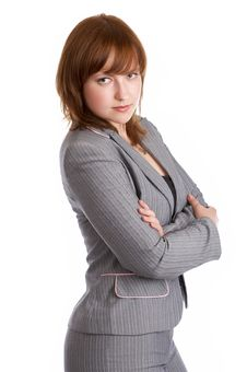 Free Sexy Woman In A Business Suit Royalty Free Stock Photography - 5952617