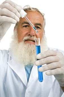 Scientist In Laboratory Stock Images