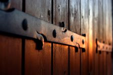 Wooden Windows In The Sunset Royalty Free Stock Images