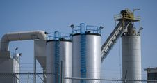 Free Processing Plant Silos Stock Image - 5953841