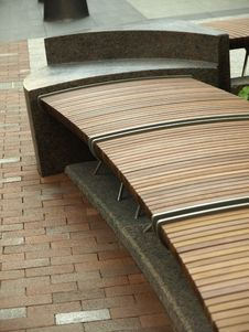 Free Wooden Slat Bench Royalty Free Stock Photos - 5954338