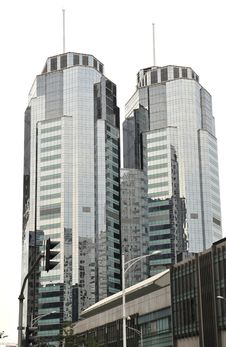 Twins Tower Stock Photo