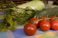 Free Cherry-tomatoes Surrounded By Other Vegetables Stock Images - 5954724