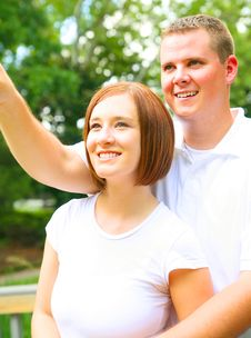 Free Close Up Couple Enjoying View Royalty Free Stock Photos - 5955338
