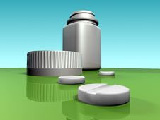 Free Pills With Bottle Royalty Free Stock Photos - 5955758