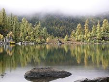 Beautiful Inverted Reflection In Lake Royalty Free Stock Photos