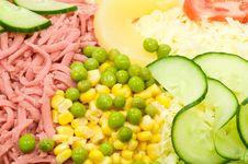 Free Ham Salad Royalty Free Stock Image - 5956356