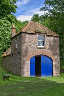 Boathouse On The River Tweed Royalty Free Stock Photography