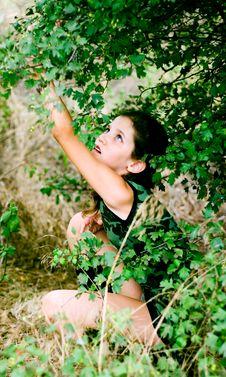 Free Beauty Teen Girl On Nature Stock Image - 5956611