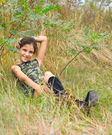 Free Girl On Nature Stock Images - 5957094