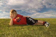 Free Happy Boy Relaxing Royalty Free Stock Image - 5957266
