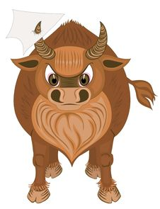 Free Bull With Blank Paper Royalty Free Stock Photo - 5957595