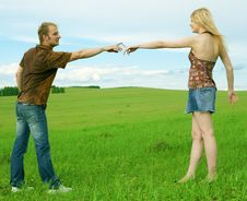 Free Young Couple Playing Around In The Nature Royalty Free Stock Photo - 5957925