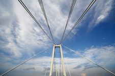 Free Cable Of Bridge Over Blue Sky Royalty Free Stock Images - 5957979