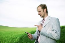 Free Businessman With Cellphone Royalty Free Stock Photography - 5957987