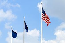 Free Waving Flags Royalty Free Stock Images - 5958129