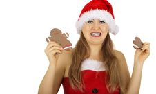 Free Mrs Santa Holding Gingerbread Royalty Free Stock Photos - 5958138