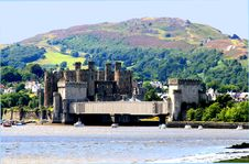 Wales Conway Castle Royalty Free Stock Images