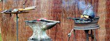 Free Blacksmiths Tools Royalty Free Stock Photography - 5958717