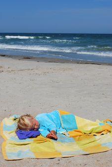 Free Little Girl On A Beach Stock Photo - 5959810