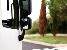 Free White Lorry Side View Stock Photos - 59570773
