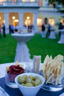 Free Dinner Party In Palace Stock Image - 59590911