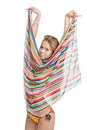 Free Striped Beach Scarf Royalty Free Stock Image - 5968996