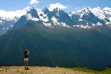 Free Viewing The Alps Stock Photography - 5961362