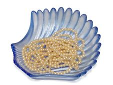 Blue Vase And Pearls Stock Images