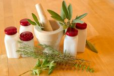 Fresh Herbs And Spices Royalty Free Stock Images