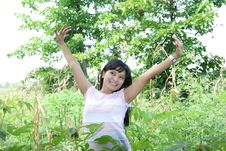 Free Girl In Nature Stock Photography - 5962862