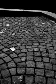 Free Black And White Stone Pavement Stock Photos - 5962933
