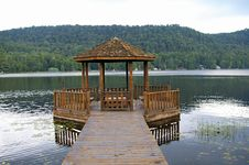 Gazebo On The Lake Royalty Free Stock Photos