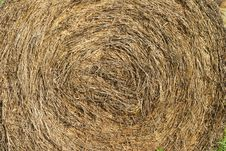 Texture Of Round Hay Bale Royalty Free Stock Image