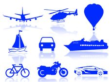 Free Transport Silhouette Stock Image - 5964471