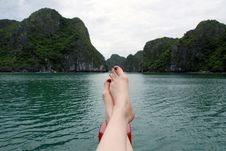 On Vacation In Ha Long Bay, Vietnam Stock Images