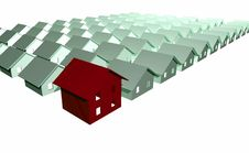 Free 3D Render Of Modern Houses Royalty Free Stock Image - 5964736