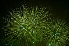 Free Green Firework Stars Stock Photography - 5964842