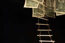 Rope-ladder And Money Stock Photo