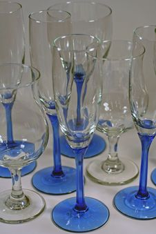 Clean Wine Glasses Ready For Party! Royalty Free Stock Photo