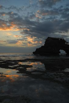 Free Sunset Near Tanah Lot Stock Photos - 5965163